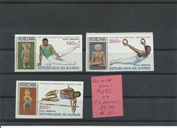 GUINEA YVERT AEREO  91/93   ( SIN DENTAR)   MNH  ** - Verano 1968: México