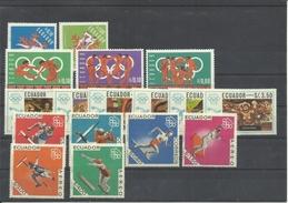 ECUADOR  4 SERIES   MNH  ** - Verano 1968: México