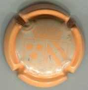 CAPSULE-CHAMPAGNE FURDYNA N°43f Gris Pâle, Contour Orange