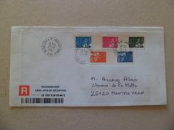 Lettre Recommandée Sans AR Senlis Le 26/11/2007  Bandes Des N° 3453; 3454 &t 3456 Se Tenant Et 3451 & 3452 Se Tenant TB - Lettres & Documents