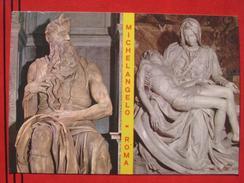 "Roma / Citta Del Vaticano (RM) - Zweibildkarte: ""Michelangelo - Roma"": Pieta + Mose - Vatikanstadt"