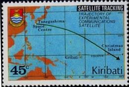 SPACE-SATELLITE TRACKING-TRAJECTORY OF COMMUNICATION SATELLITE-KIRIBATI-MNH-H1-46