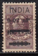French India Fiscal Revenue Used, Surcharge / Overprint, As Scan