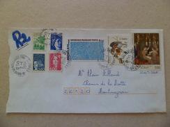 Lettre Recommandée R2 Sans AR De Brive 2/4/2004  à Montmeyran  Avec Les N°1836; 1963; 2717; 2832; 2932; 2950; Et 3093 TB - Lettres & Documents