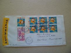 Lettre Recommandée R2 Sans AR De Caen Le 27/10/2004  à Montmeyran  Avec Les N°3088 X7 (dont Bloc De 6) Et Le 2094   TB - Lettres & Documents
