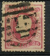 Portugal 1867 25r King Luiz Issue #28 - 1862-1884 : D.Luiz I