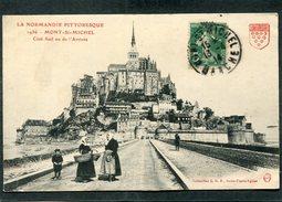 CPA - MONT ST MICHEL - Côté Sud Ou De L'Arrivée, Animé
