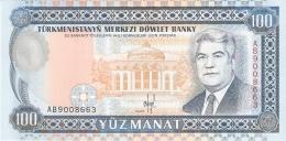TURKMENISTAN   100 Manat   ND (1993)   P. 6a   UNC - Turkménistan
