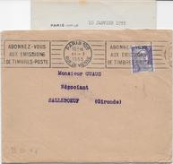 Env. Dewisme & Bouilliant 1955 (avec Correspondance) - Perf. BD 67 Sur 883 - Perforés