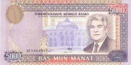 TURKMENISTAN   5000 Manat   1996   P. 9   UNC - Turkménistan