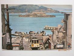 Postcard Alcatraz & Cable Car San Francisco Nice Yosemite National Park Cancel 1973 California  My Ref B11077 - Prison