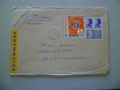Lettre Recommandée R2 Sans AR Rouen Le 11/8/2005  à Montmeyran Les N°2455; 3258; Et Paire Du 2276     TB - Lettres & Documents
