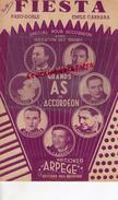 PARTITION MUSICALE-FIESTA- EMILE CARRARA-ACCORDEON-E.LORIN-E. PRUD'HOMME-J.VAISSADE-MARCEAU-L.FERRARI-BEUSCHER 1948 - Partitions Musicales Anciennes