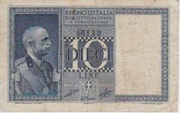BANCONOTA - REGNO D'ITALIA  - LIRE 10 - 1939 - [ 1] …-1946 : Regno