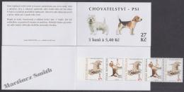 Czech Republic - Tcheque 2001 Yvert C279, Fauna, Dogs - Booklet  - MNH - República Checa