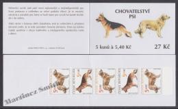 Czech Republic - Tcheque 2001 Yvert C277, Fauna, Dogs - Booklet  - MNH - República Checa