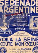 PARTITION MUSICALE- SERENADE ARGENTINE-AMPARITO BOLERO- J.TERUEL-PIERRE MALAR-JACQUES HELIAN-CHATRIAN PARIS ANDORRA 1946 - Partitions Musicales Anciennes