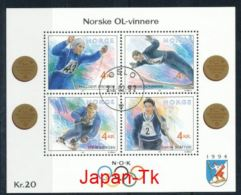 NORWEGEN Mi.Nr. Block  17 Olympische Winterspiele 1994, Lillehammer  -used