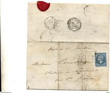 LETTRE  EVIAN  1451 PAR MONT-CENIS  A MACON SAINTE-SEVERE INDRE CHATEAU  DE MARMONT - Storia Postale
