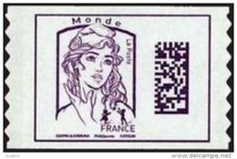 France Autoadhésif N° 1217 ** Marianne De Ciappa Et Kawena - Datamatrix Monde Sans Indication De Poids - Adhésifs (autocollants)