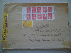 Lettre Recommandée R2 Sans AR  De Montmeyran Le 3/10/2005  à  Poissy  N°3619 X 8 Et 3419 X 2  & 3731 X2 NPAI Retour Y TB - Lettres & Documents