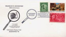 USA - KALAMAZOO  HONORING FRANKLIN DELANO ROOSEVELT - Celebrità