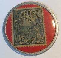 """Nouvelle Caledonie Timbre-monnaie 1922 25c """"Nouméa Banque De L' Indochine"""" (Encased Postage Stamps Briefmarkengeld - Nouvelle-Calédonie"""