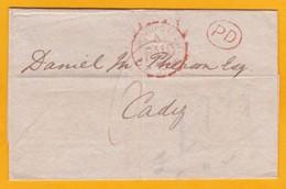 1869 - Lettre Sans Correspondance De Londres, GB Vers Cadiz, Espagne Via France - Cad Arrivée - Postmark Collection