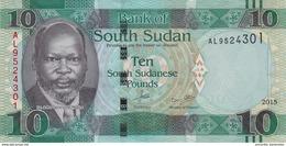 SOUDAN DU SUD 10 POUNDS 2015 P-7b NEUF VERT [SS110a] - South Sudan