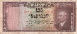 TURQUIE   2  1/2 Turk Lirasi   (27/3/1947)   P. 140 - Turquie