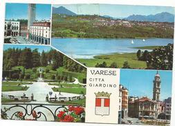 V681 Varese - Città Giardino - Panorama Vedute Multipla / Viaggiata - Varese