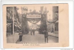 (n°746) CPA 71 LE CREUSOT Centenaire SCHNEIDER 1805 1905 Arc De Triomphe Le Quartier Du Centre Annimation   1905 - Le Creusot