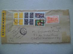 Lettre Recommandée R2 Sans AR  De Montmeyran  4/9/2006 N° 2644; 3033; Blocs De 4 Des 3731 Et 3754 Et Le PA N°58 NPAI  TB - Lettres & Documents