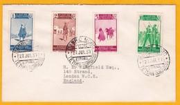 1937 - Enveloppe De Tetouan (Barrio Moro) , Maroc Espagnol Vers Londres, Grande Bretagne - Affrt à 18 C - Spanish Morocco