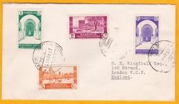 1937 - Enveloppe De Tetouan (Barrio Moro) , Maroc Espagnol Vers Londres, Grande Bretagne - Affrt à 23 C - Spanish Morocco