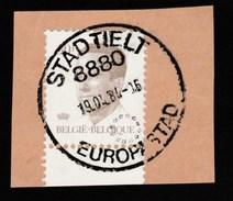 Belgique - Belle Oblitération Tielt 8880 De 1984 - Europastad Sur Baudouin 50 Frs - Marcophilie