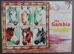 Gambia 2016** SH 4595-4600. The Gambia Horses MNH [162]