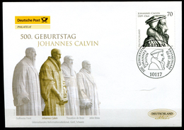 """First Day Cover Germany 2009 Mi. Nr.2744 Ersttagsbrief """"500.Geburtstag Von Johannes Calvin,Reformator """" 1 FDC - FDC: Buste"""