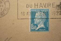 Perfin Pasteur  Perforé  Lochung  FK56 Sur Lettre Pour Suéde Flamme Foire Exo Le Havre 1927 - Mechanical Postmarks (Advertisement)