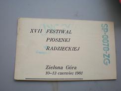XVII Festival Piosenki Radzieckiej, Zielona Gora 1981 - Radio Amateur