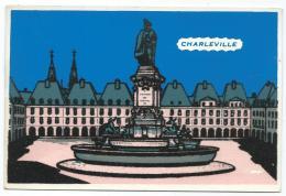 CPSM FEUTRINE CHARLEVILLE, LA PLACE DUCALE, ARDENNES 08 - Cartes Postales