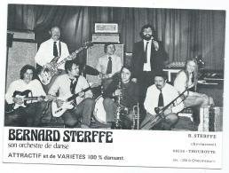 CARTE PUB PROMOTION BERNARD STERFFE ET SON ORCHESTRE DE DANSE, CHEVINCOURT, THOUROTTE, OISE 60 - Musique Et Musiciens