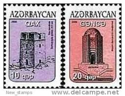 Azerbaijan 2006 Definitive Issue Towers 2v MNH - Azerbaïjan