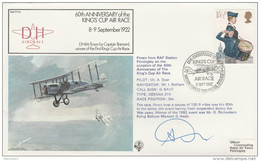 1982 SIGNED Special FLIGHT COVER KINGS CUP AIR RACE CESSNA 310 Aviation GB Stamps - Airplanes