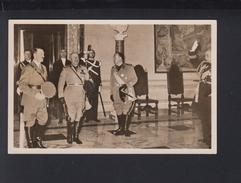 Dt. Reich AK Hitler Und Mussolini Im Quirinal Italien Italia - Personajes Históricos