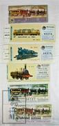 6 Different Spanish National Lottery Tickets - Train/ Railway Topic - Falla Ferroviaria, 1980's - Eisenbahnverkehr