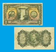 BRITISH GUIANA 2 DOLLARS 1942 - Copy - Copy- Replica - REPRODUCTIONS - Billets