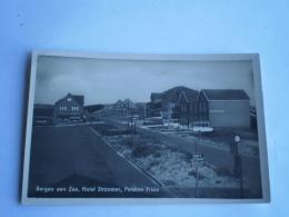 Bergen Aan Zee // Hotel Stroomer En Pension Frisia Ca 1941 Kaart Lijkt Blauwig Maar Dat Is De Foto! - Paesi Bassi