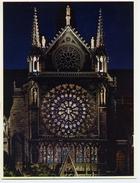 PARIS Notre-dame Rosace Sud Vitraux - France (199) - Tableaux, Vitraux Et Statues