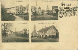 AK Grasbrunn-Harthausen, Forstwirt, Dorfplatz, Dorfstrasse, Handlung Estendorfer, O Um 1918 (8200) - Duitsland